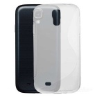 Protective TPU Case w/ Screen Protector + Water Resistant Bag for Samsung Galaxy S4 i9500 - White