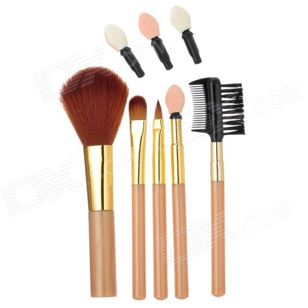 Fen Ling 1405 6-in-1 Portable Beauty Cosmetic Makeup Brushes Set - Multicolored