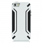 Fashion Protective PVC + TPU Back Case for Iphone 5 - White + Black