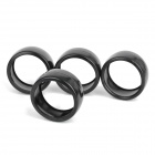 HSP 60mm Duroplast Slick Wheels for R/C 1:10 Drift Car - Black (4 PCS)