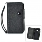 MLT LX-L35H Protective PU Leather Case w/ Card Slots for Sony L35h - Black