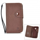 MLT LX-L35H Protective PU Leather Case w/ Card Slot Strap for Sony L35h - Coffee