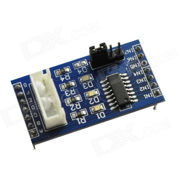Фото ULN2003 5-Line 4-Phase Stepper Motor Driver Module - Blue produino 28byj 48 model five line four phase stepper motor driver module blue
