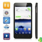 Freelander I30 MTK6589 Quad-Core Android 4.2.1 WCDMA Bar Phone w/ 5.0' Screen, Wi-Fi and GPS - Black