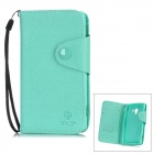 MLT LX-L35H Protective PU Leather Case w/ Card Slot Strap for Sony L35h - Cyan