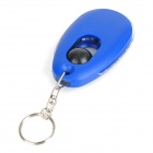 Mini 1-LED White Light LED Keychain -  Blue (3 x LR41)