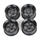 HSP 53mm Plastic 5-Spoke Wheel Hub for 1:10 R/C Racing Car - Black (4 PCS)