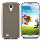 Protective TPU Back Case + PVC Waterproof Bag Set for Samsung Galaxy S4 i9500 - Translucent Grey