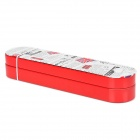 British Style Rotate-to-open Double Deck Tinplate Pencile Box - Red + White + Black