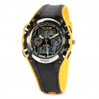 ALIKE AK9132  Sports 50m Water Resistant Quartz Diving Wrist Watch - Black + Yellow