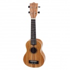 "William 21"" Zebrawood 4-String Ukulele - Yellow + Brown"