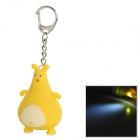 Fat Big Belly Kangaroo LED Keychain - Yellow (3 x AG10)
