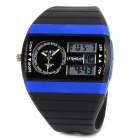 ALIKE AK8116 Sports 50m Water Resistant Quartz Diving Wrist Watch - Black + Blue
