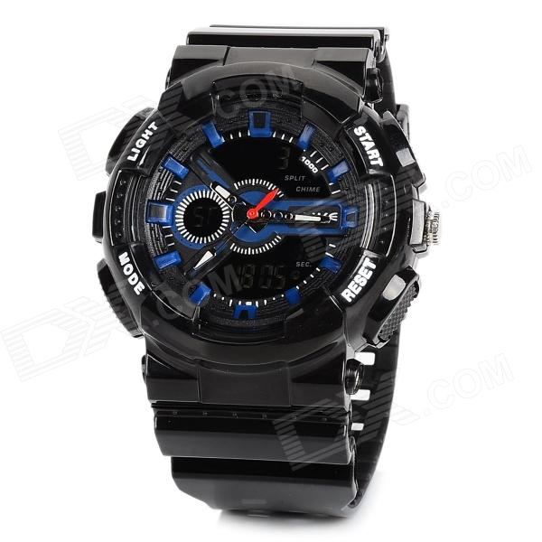 ALIKE AK1383 Sports 50m Water Resistant Quartz Diving Wrist Watch - Black + Blue аксессуар bbb bfd 13f mtb protector белый