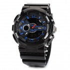 ALIKE AK1383 Sports 50m Water Resistant Quartz Diving Wrist Watch - Black + Blue