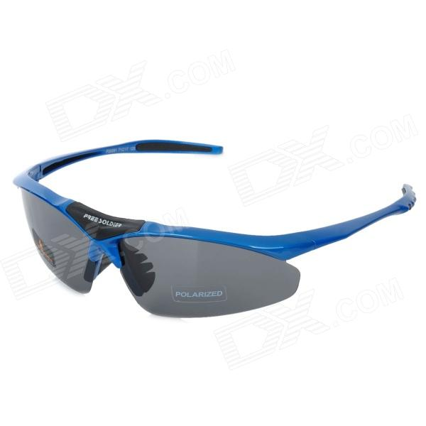 Free Soldier zyb0091k Outdoor Sports UV400 Polarized TR90 Frame PC Lens Sunglasses for Men - Blue 9pcs set coffee color pu leather universal auto car seat covers automobile seat cover chair cushion for lada kalina toyota suzu