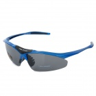 Free Soldier zyb0091k Outdoor Sports UV400 Polarized TR90 Frame PC Lens Sunglasses for Men - Blue