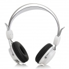 Multi-functional Wireless Headphone w/ TF / FM / Line in - White + Silver + Black
