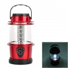 12-LED White Light Camping and Garden Lantern - Red + Black (3 x AA)