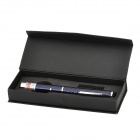 5mW 532nm Green Light Laser Pointer - Deep Blue + Silver (2 x AAA)