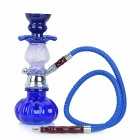 FS294 Pumpkin Shape Ceramic Shisha Hookah Water Pipe Set - Blue + Silver