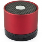 Portable Mini Media Player MP3 Speaker w/ USB / TF Slot / FM / Recording - Black + Red