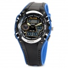 ALIKE AK9132 Stylish 50m Waterproof Sports Quartz Digital Wrist Watch - Black + Blue (1 x CR2016)