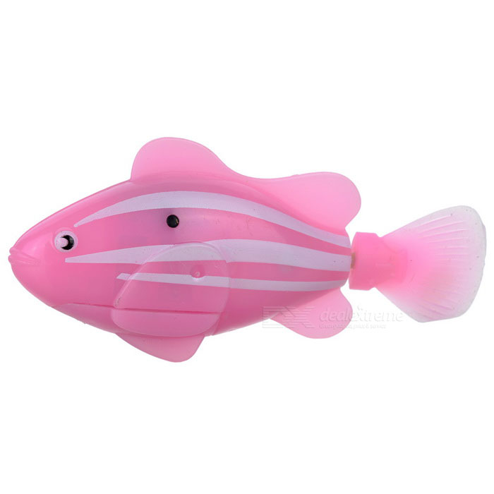 ROBO FISH Simulation Electronic Pet Fish Toy - Pink + Blue (2 x L1154) creative simulation comadreja toy polyethylene