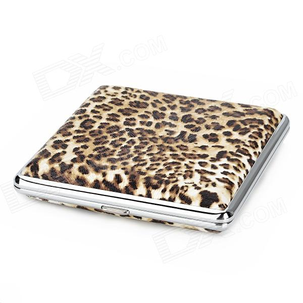 Fashion Leopard Pattern Stainless Steel Cigarette Storage Case - Leopard Color