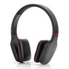 Fashion Wireless Bluetooth v2.1 Headphone Headset w/ TF / FM / Microphone - Black + Red