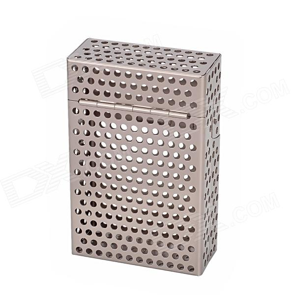 LAIFU 470 Skeleton Magnetic Aluminum Alloy Top Flip-open Cigarette Storage Case - Light Brown