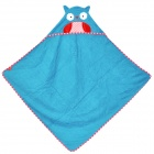 Kids' Cute Cartoon Owl Style Cotton Bath Towel w/ Hood - Blue
