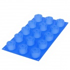 Rose Flower Shape Silicone 15-Lattice Cake / Ice Cube Tray Mold - Blue