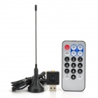 Mini DVB-T Digital TV USB Dongle Stick-w / FM / DAB / DAB + / Remote Control (RTL2832U + R820T)
