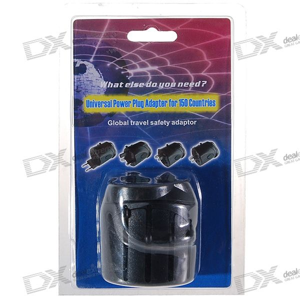 Universal 7-Socket Travelling AC Power Socket Adapter with Safety Lock