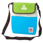 Protective Canvas Shoulder Bag for Tablet PC Ipad MINI - Green + Blue + White