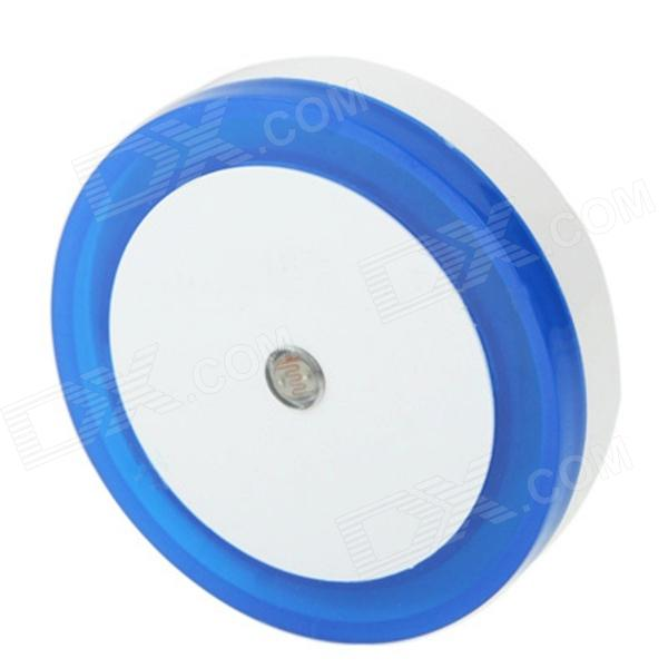 High Brightness 1W 450~490nm 4-LED Blue Light Intelligent Night Lamp - Blue + White