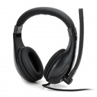 Senic ST-2688 Fashion Stereo Game Headphone w/ Microphone - Black (3.5mm Plug / 200cm)
