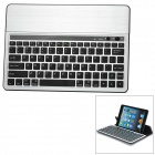 Universal Rechargeable Bluetooth V3.0 84-Key Keyboard for Samsung Tablet PC / Ipad - Black + Silver