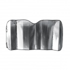 Car Folding Thickened Heat Insulation Sunscreen Front Board - Silver + Black (60cm)