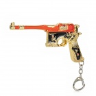 Cool Dragon Pattern Mauser Style Zinc Alloy Keychain - Red + Golden + Black