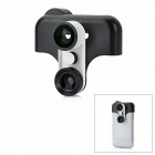 Fish Eye + Wide Angle + Macro Set w/ Half Case for Samsung Galaxy Note 2 / N7100 - Black