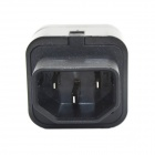 JINHONGDA Universal 3-Flat-pin Plug Power Adapter / Socket - Black