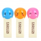 Cute_Expression_Mini_Handheld_Fans_-_Light Yellow + Blue / Red / Orange (2 x AAA / 3 PCS)