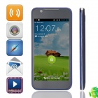 "ZTE V956 Android 4.1.2 Quad-Core WCDMA Bar Phone w/ 4.5"" Screen, Quad-Band / Wi-Fi - Blue + Black"