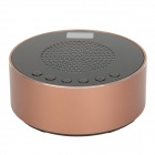 Z-056 Portable Aluminum Alloy Media Player Speaker w/ USB / TF Slot / FM - Black + Copper