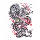 YIMEI MQA22 Dragon Totem Pattern Tattoo Paper Sticker for Men - Black