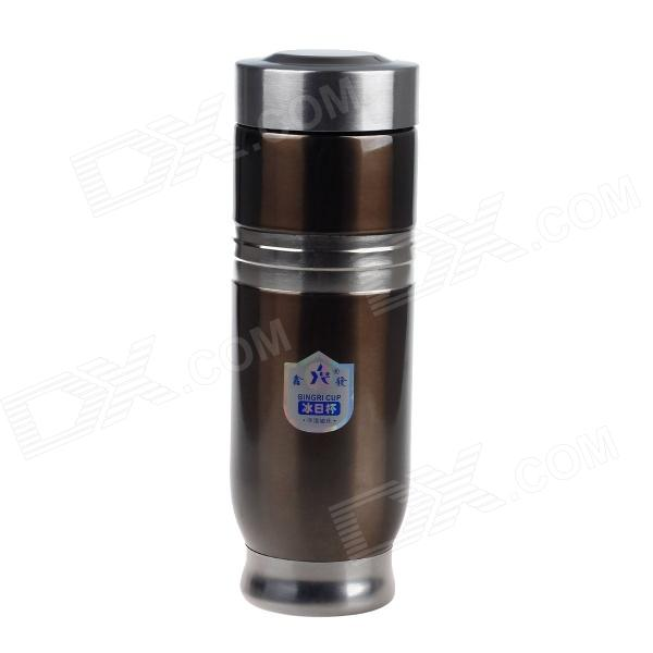 XINFA 0039 Stainless Steel Vacuum Cup / Bottle - Brown + Silver