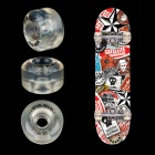 Winmax WME05503 Professional PU Skateboard Wheel - Transparent (4PCS)