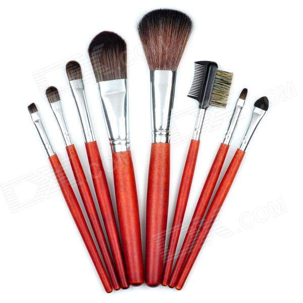 MAKE-UP FOR YOU Professional 8-in-1 Cosmetic Makeup Brushes Set w/ Case - Black